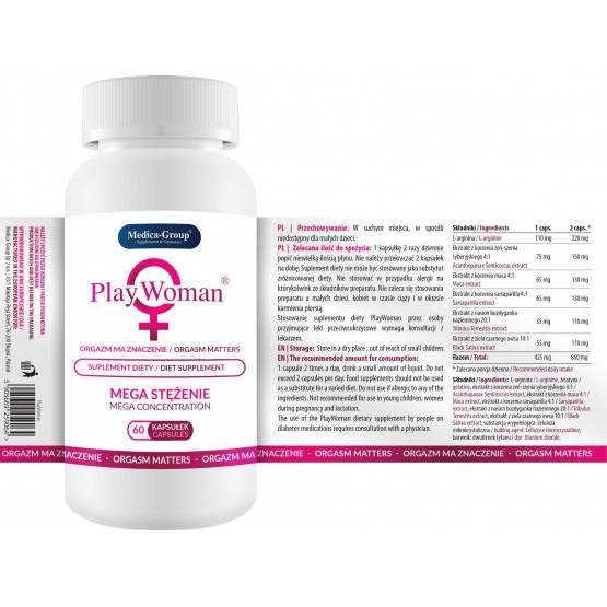 Medica Group PlayWoman 60 kaps. suplement diety