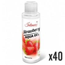 INTIMECO Strawberry Aqua Gel 100ml - pakiet 40 sztuk