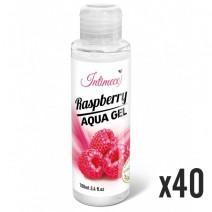 INTIMECO Raspberry Aqua Gel 100ml - pakiet 40 sztuk