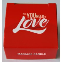 Świeca do masażu 25 ml - Massage candle ALL YOU NEED IS LOVE
