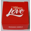 Świeca do masażu 25 ml - Massage candle ALL YOU NEED IS LOVE